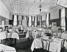 Dining room of the King Edward Hotel, 641 Yates Street