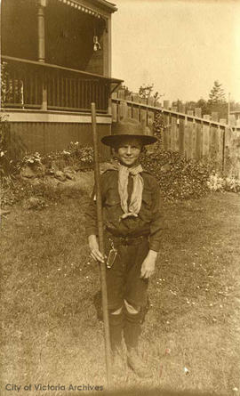 Ainslie Helmcken as a boy scout