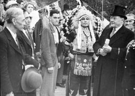 Lt. Governor Hamber with First Nations Chiefs