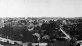 Panorama from the dome of the Parliament Buildings looking east