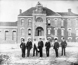 Hillside Gaol and staff on Topaz Avenue (later site of S.J. Willis School)