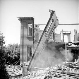 Work Point Barracks, Officer's and N.C.O. married quarters being demolished
