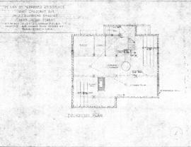 Plans of proposed residence, 1844 Chestnut Ave., for J.J. Browning, 2625 Victor Street
