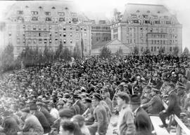 Baseball game on opening day of the Victoria Memorial Stadium