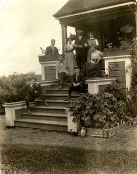 Rochfort family on the steps of 2051 Runnymede Avenue