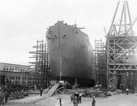 "S.S. ""Fort Pelly"" under construction"