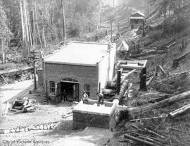 Construction of pumping station at Goldstream