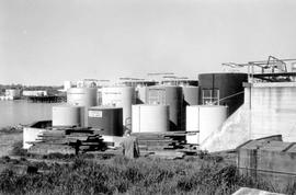 200 Belleville Street. BAPCO paint tanks and berm