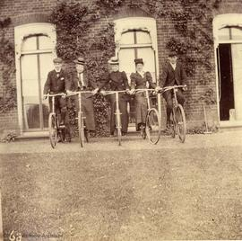 Unidentified cyclists, from Payne family album