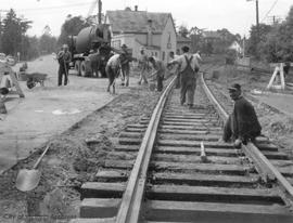 Esquimalt Road railway crossing repairs
