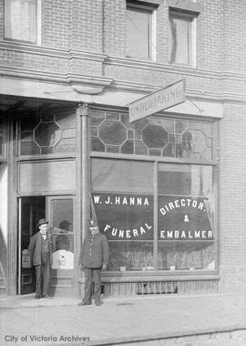 W.J. Hanna Funeral Director and Embalmer, 1420 Douglas Street
