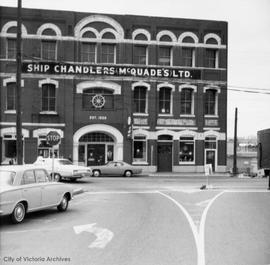 McQuade's Ltd. Ship Chandler's located in the Yates Block, 1244-1252 Wharf Street