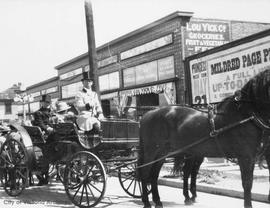 Horse and buggy on the 1800 block Douglas Street