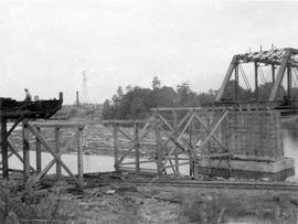 Point Ellice Bridge, first span removed