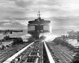 "Launching of the ferry M.V. ""Sidney"""