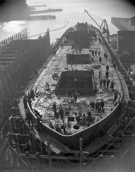 Ship under construction