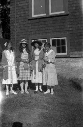 Mary Malins with her three cousins