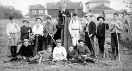 Central School lacrosse players.  Alexander W. Donaldson 2nd from right