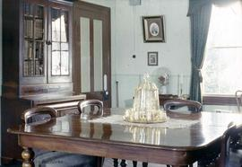 Dr. John Sebastian Helmcken family home at 638 Elliot Street, dining room