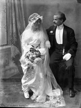 Wedding portrait. Rosina Bantly and J.W. Mellor?