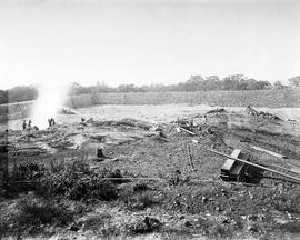 Construction of the Smith Hill Reservoir, Sept 18, 1908