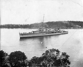 British cruiser in Esquimalt Harbour