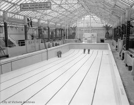 Interior of Crystal Garden - pool empty