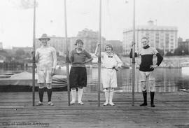 Rowers including D. O'Sullivan and Orlebar Walls