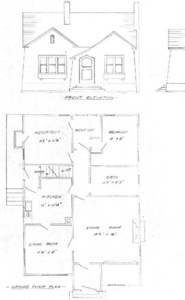 [One-storey house]