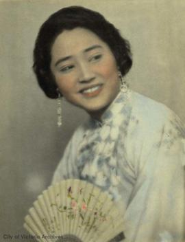 Chinese woman with fan
