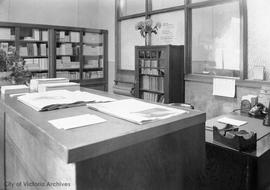 Interior of office of Church of Christ Scientist