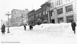 Government Street during the 'Great Snow' of 1916