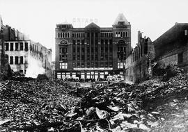David Spencer, Arcade Building fire October 26, 1910, aftermath