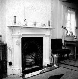 "Thomas Trounce family home at 436 Michigan Street known as ""Tregew"", fireplace"