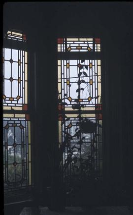 Stained glass window in unidentified house