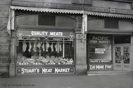Stuart's Meat Market, Douglas Street and Johnson Street