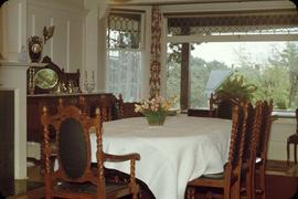 "Lyman Duff family home at 1745 Rockland Avenue known as ""Ashton"", dining room"