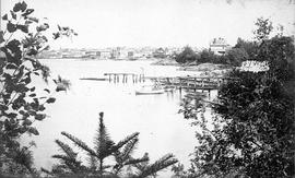 Laurel Point (Sehl's Point).  The Sehl residence at the foot of Kingston Street and the Raymur re...