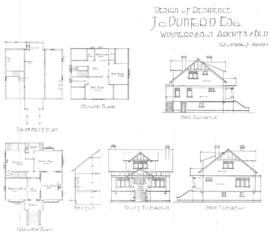 Design of residence, J.O. Dunford Esq.
