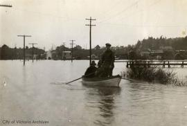 Marigold Road Ferry during the January 1935 flood