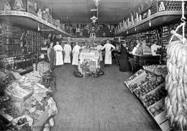 Dixi Ross & Co. dry goods store, interior