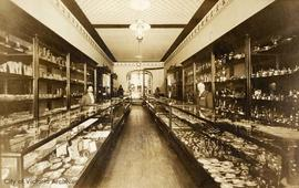 Wenger's jeweler store, Government Street, interior