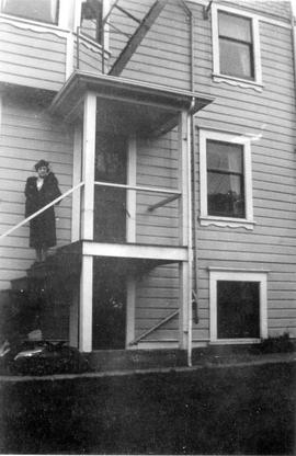 809 Burdett Avenue, Axel and Beatrice Anderson home, view of rear