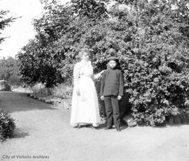 "Chinese houseboy and maid at ""Stoneyhurst"", the Rout Harvey residence"