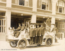 Victoria Fire Department's first motorized apparatus