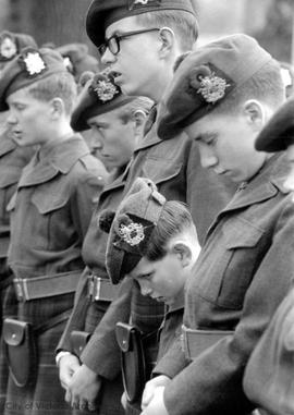 Eyes down : Canadian Scottish cadets, Armistice Day