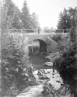 Bowker Creek at Beach Drive. Bridge built about 1906