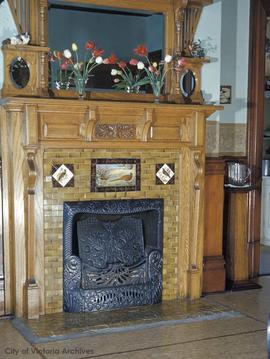 "William J. Pendray family home at 309 Belleville Street known as ""Loretto Hall"", fireplace"