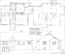 Bungalow plan for Mr. F. Walter, Lot 3, Plan 4121, cnr Gonzales and Richmond Aves., Victoria, B.C.