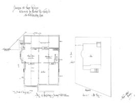Drawings for frame residence to be erected cor. Fairfield Rd. & Trutch St. for H.H. Shandley Esqre